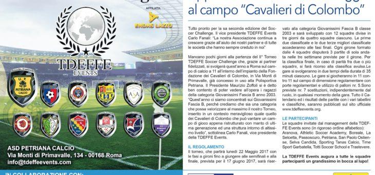 Torneo TDEFFE Soccer Challenge: al via la seconda edizione