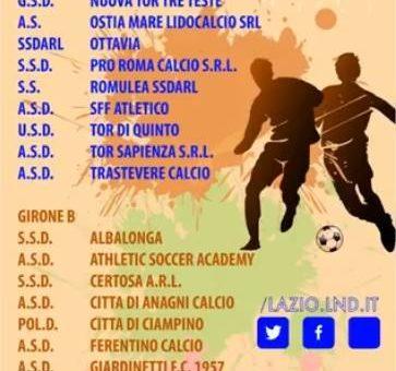 Composizione Gironi Campionato Eccellenza Under 17, 16, 15, 14.